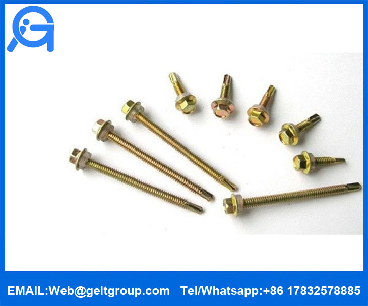 Hex Washer Flange Head Self-Drilling Screws